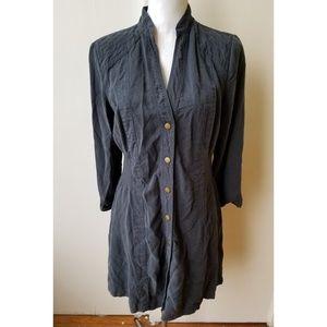 Soft Surroundings Gray Tunic Shirt Dress